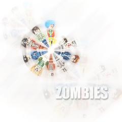 LEGO Zombies (weeLEGOman) Tags: lego zombie zombies minifigure minifigures mini figure figbarf fig barf apocalypseburg apocalyptic apocalypse toy macro photography uk nikon d7100 105mm clown pirate driver cheerleader suit business man businessman chef kid robert rob trevissmith weelegoman