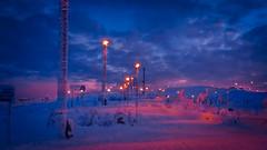 Levi-8812 (ikkasj) Tags: lappi lapland finland colorful picturesque kittilä snow sunset winter doubleexposure