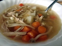 Chicken Noodle Soup. (dccradio) Tags: lumberton nc northcarolina robesoncounty indoor indoors inside food eat meal supper dinner lunch snack samsung galaxy smj727v j7v cellphone cellphonepicture homemade soup carrots chickensoup chickennoodlesoup potatoes corn noodles broth bowl soupbowl thursday evening thursdayevening november goodevening
