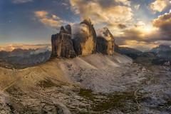 Tre Cime di Lavaredo (Alexander Lauterbach Photography) Tags: dolomites dolomiten dolomiti italien südtirol italy mountain tre cime trecime dreizinnen sunset drone dji aerial landscape travel