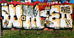 Graffiti in Haarlem (wojofoto) Tags: haarlem hetlandje legalwall halloffame weemoed wmoed graffiti streetart nederland netherland holland wojofoto wolfgangjosten