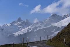 DSC_0406 (Bergwandern Alpen) Tags: alpen alps bergwandern hiking grosschärpf blistock wolken wolkenspiel clouds bergpanorama glarneralpen zaun fence bergstrasse