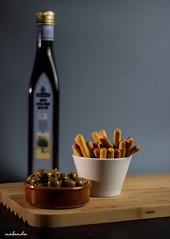 Food photography (Nabendu Das Gupta) Tags: olives breadsticks oliveoil studio speedlights 550d 50mm