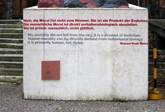 Moral (Don Claudio, Vienna) Tags: bildhauerateliers bund praterateliers wien vienna prater kunst art ausstellungsgebäude bildhauergebäude staatsateliers austria österreich zitat michael noah weiss moral