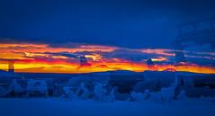 Levi-8824 (ikkasj) Tags: lappi lapland finland colorful picturesque kittilä snow sunset winter doubleexposure