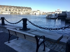 Boston - Harbor Morning! (Polterguy40) Tags: bench bostonharbor massachusetts boston