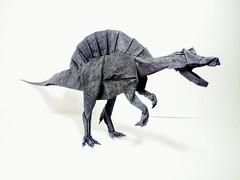 Spinosaurus - Satoshi Kamiya (GGIamBatman) Tags: origami papiroflexia papel dinosaurio dinosaur spinosaurus satoshi kamiya