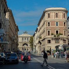 Rome (lauracastillo5) Tags: rome italy street morning day city cityscape citylife sky blue road traffic buildings building architecture