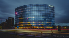 Building Volvo ( Bruxelles ) (vanregemoorter) Tags: architecture building bluehour city cityscape longexposure