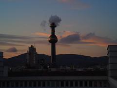 evening sky (Elisabeth patchwork) Tags: sunset sky clouds spittelau vienna 7artisans