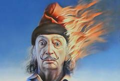 Salvador Dalí (Don Claudio, Vienna) Tags: salvador dalí poster gottfried helnwein burning