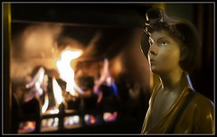 "320/365 The ""Whistling Boy"" getting a wee heat on a cold winter's night! (B Ryder) Tags: nikon d500 35mm f18 lens fire whistling boy ayr south ayrshire scotland uk"
