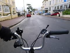 Riding Through Torquay (cycle.nut66) Tags: brompton bike bicycle cycle yellow m type 6 speed folder folding torquay devon panasonic lumix lx5 leica summicron cold rainy day out season