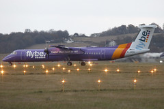 Dash 8 G-JEDV flyBE - Edinburgh Airport 15/11/10 (robert_pittuck) Tags: dash 8 gjedv flybe edinburgh airport 151110