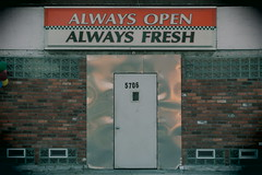 Always Open, Always Fresh. (david grim) Tags: poletowneast detroit mi michigan