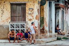 Decaying Cienfuegos, Cuba (AdamCohn) Tags: adam cohn cienfuegos cuba corner people sitting streetphotographer streetphotography wwwadamcohncom adamcohn