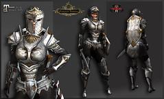 TSC Battle Paladin Silver (Maitreya BENTO) (Topa Adamski) Tags: armor knight bento second life warrior paladin substancepainter zbrush