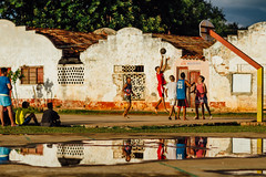 Basketball After The Rain, Cienfuegos, Cuba (AdamCohn) Tags: adam cohn cienfuegos cuba basketball boys goldenhour playing puddle reflection streetphotographer streetphotography teens wwwadamcohncom adamcohn