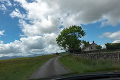 Hopfully We Will Not Meet Another Car (Jocey K) Tags: tripukeroupe2019 june uk scotland road signs landscape hills clouds sky house buildings tree car architecture