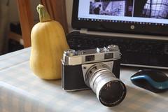 Camera of The Day - Kodak Retina IIIS (Type 027) with f4/135mm Tele-Xenar (Gareth Wonfor (TempusVolat)) Tags: garethwonfor tempusvolat mrmorodo gareth wonfor tempus volat kodak schneider kreuznach retinaxenon retina xenon 19 50mm lens iiis type027 027 camera vintage kodakretina f4 135mm telexenar