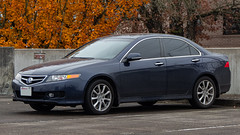 2006 Acura TSX (mlokren) Tags: 2019 car spotting photo photography photos pic picture pics pictures pacific northwest pnw pacnw oregon usa vehicle vehicles vehicular automobile automobiles automotive transportation outdoor outdoors honda 2006 acura tsx sedan blue