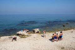 BEIRUT - BEACH LIFE (Maikel L.) Tags: بيروت لبنان westasia asia asien middleeast naherosten lebanon liban libanon beyrouth beirut corniche beach strand playa guys men männer people spiaggia mediterranean mittelmeer sea ocean meer travel