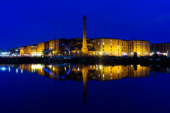 Albert Dock (nickcoates74) Tags: albertdock royalalbertdock canningdock reflection waterfront water liverpool night bluehour sony a6300 ilce6300 1650mm sel1650 epz1650mmf3556oss merseyside afterdark evening