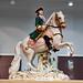 Fine Meissen porcelain soldier/ general figurine on horseback