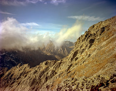 High Tatras, Slovakia. (wojszyca) Tags: wanderlust travelwide 90 travelwide90 schneiderkreuznach angulon 90mm kodak portra 160 epson v800 mountains landscape 4x5 largeformat clouds ridge high tatras adventure hiking nature mountainscape