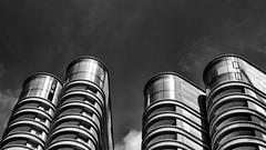 Four Turrets (Joseph Pearson Images) Tags: building architecture abstract london thecorniche fosterandpartners blackandwhite mono bw