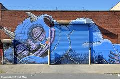 Let Sleeping Monsters Lie (Trish Mayo) Tags: subwaydoodle monster sleepingmonster paintedwall mural art buswick bushwickcollective
