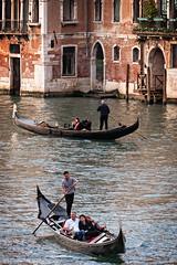 Gondolas (Fairy_Nuff (piczology.com)) Tags: venice welshot grand canal venezia gondola gondolier