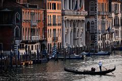 Lone Gondola (Fairy_Nuff (piczology.com)) Tags: venice welshot grand canal venezia gondola gondolier architecture