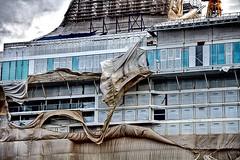 First storm for Celebrity Apex (Filamon44) Tags: saintnazaire ship stx bateau boat vessel cruise cruiseship celebritycruises celebrityapex paquebot liner toile protection chantiersdelatlantique imo9838383