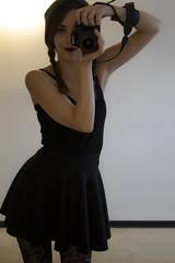Saturday Selfie! (Becca_marsh) Tags: saturday selfie wonderful day little black dress camera mirror me messingaround playful