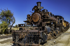 Old Rusted Steam Engine - Needs A Little Work (Bill Gracey 25 Million Views) Tags: pacificsouthwestrailroadmuseum california oldlocomotive rust rusted textures color colorful goldenspikeday campo nationalmodelrailroadassociation