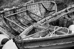 Boat Decay (IMG_0002mod) (AngusInShetland) Tags: kosmofoto boat decay scotland spiggie minolta maxxum fomapan100 analogue film dynax7000i vivitar28200f3553zoom 35mm canoscan5600f dunrossness shetland wood timber