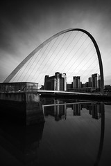 Newcastle (.willwalker) Tags: bnw river sky longexposure city architecture daytime appicoftheweek