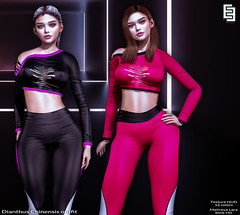NEW !EE Dianthus Chinensis outfit at Tres Chic!!! (!ΕΕ Original Meshes) Tags: treschic elvenelder new mesh gym wear complete outfit maitreyalara slink hg hourglass cute fashion secondlife