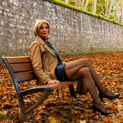 Marly (magda-liebe) Tags: french tgirl stockings highheels jean minidress leather genderfluid outdoor