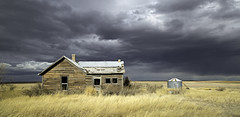 and then the weather changed (eDDie_TK) Tags: wyoming wy laramiecntywy abandoned neglected weather sky