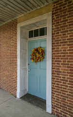 Front Door, William Owsley House — Lancaster Vicinity, Garrard County, Kentucky (Pythaglio) Tags: house dwelling residence historic farmhouse williamowsley twostory brick fivebay classicalrevival flemishbond lancaster kentucky garrardcounty 66windows splayed stone lintels porch pedimented twostoryporch jerkinroof nrhp nationalregister 75000763