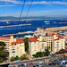 The port of Gibraltar from the Cable Car