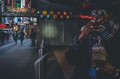 Pimpin Aint Easy... (Creekside Photog) Tags: manhattan newyork cigarette starbucks whippedcream broadway grain grit streetphotography
