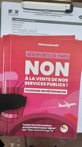 Signature référendum ADP -  16 novembre 2019