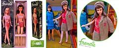 STRAIGHT LEG FRANCIE 1966 (ModBarbieLover) Tags: francie doll mod fashion mattel 1966 1967barbie house case tweed green pink nrfb vintage toy