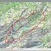 Wanderungkarte Schweizmobil - Wasserauen-Ageteplatte