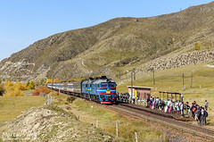 2M62MM-058 UBTZ, Buyant (Mongolia) (Martin Válek) Tags: rail railway railroad train locomotive zug eisenbahn vlak železnice mongolsko mongolei transmongolianrailway ulaanbaatarrailway