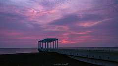 Viewing platform sunrise (Russell Taylor photography) Tags: sunrise sun red pink sky lookout viewing platform napier hawkes bay landscape