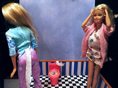 Oh no..she is unaware (marieschubert1) Tags: barbiedoll bathroom mishap tissue paper flickr friday unaware